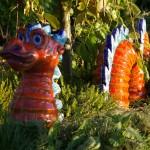 Gartenkeramik Drachen