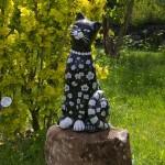 Gartenkeramik Katze