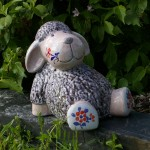 Gartenkeramik Schaf